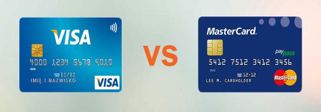 mặt trước của thẻ mastercard khác gì với thẻ visa